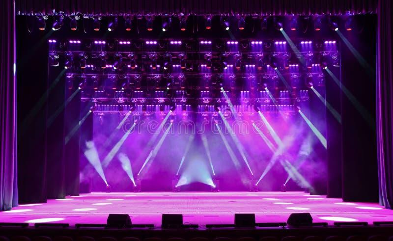 音乐会阶段 免版税库存图片