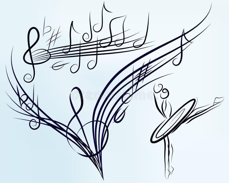 音乐会集合向量 皇族释放例证