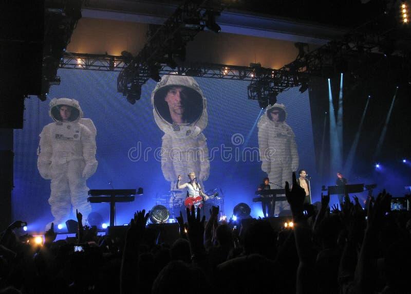 音乐会depeche模式 库存照片