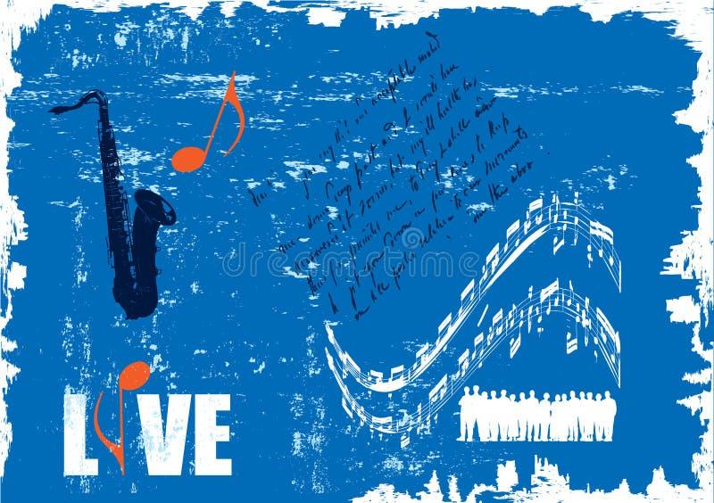 音乐会grunge海报 库存例证