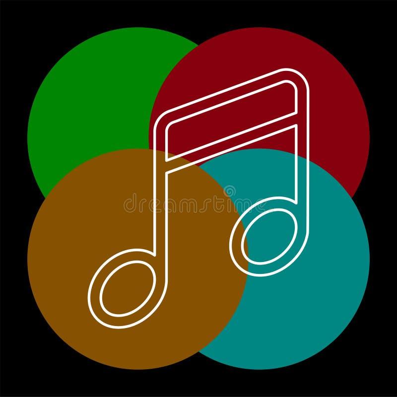 音乐传染媒介象 向量例证