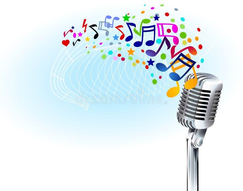 音乐作用 皇族释放例证