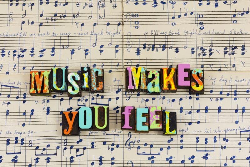 音乐使您感觉良好 向量例证