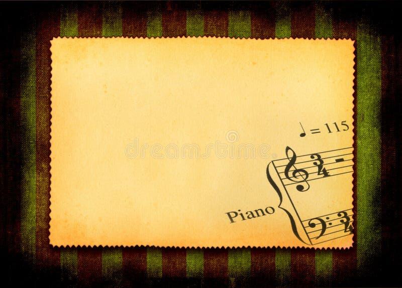 音乐便条纸零件 库存例证