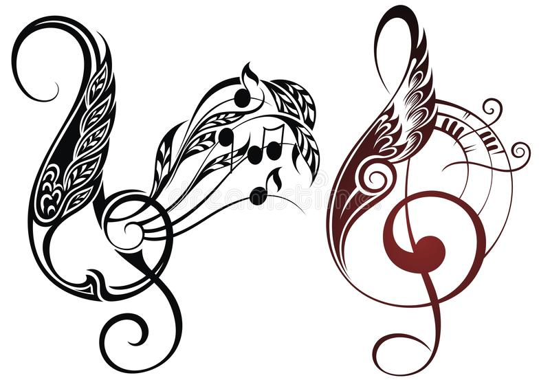 音乐元素 皇族释放例证