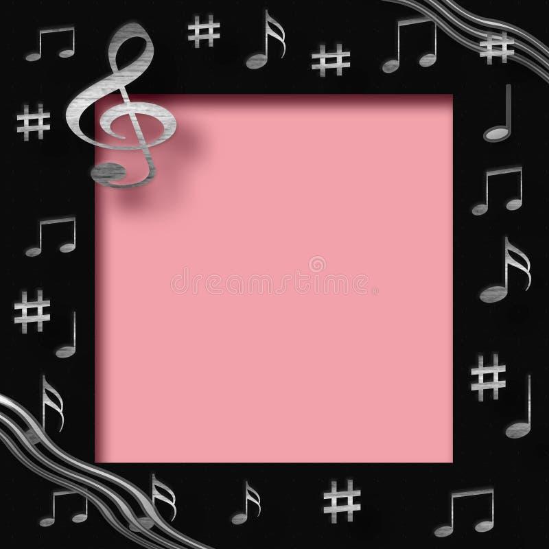 音乐剪贴薄 向量例证