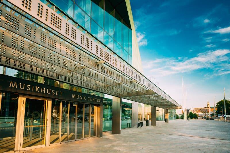 音乐厅音乐中心大厦在赫尔辛基,芬兰 免版税库存图片