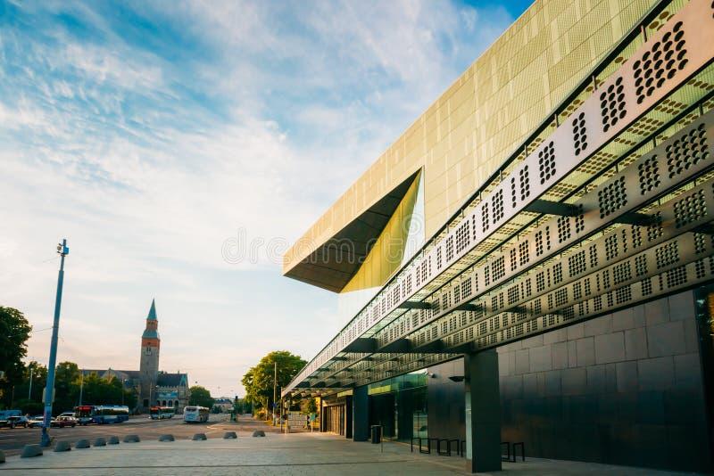 音乐厅音乐中心大厦在赫尔辛基 免版税库存照片