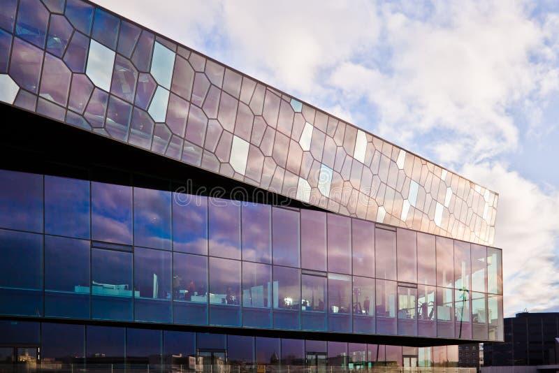 音乐厅harpa冰岛雷克雅未克 图库摄影
