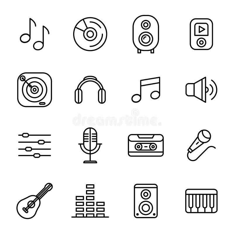 音乐和声音图标 向量例证