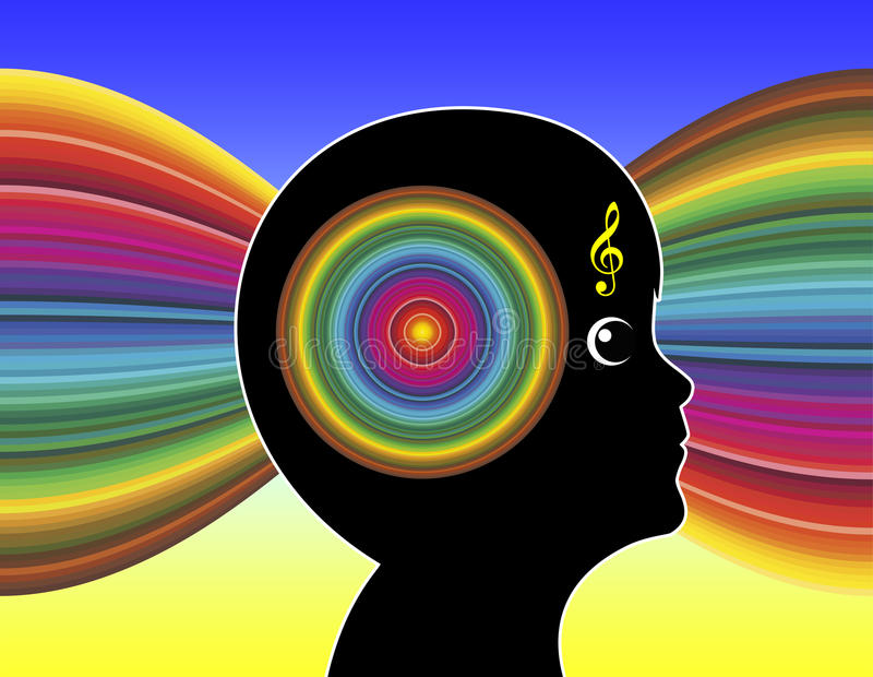 音乐和孤独性 库存例证