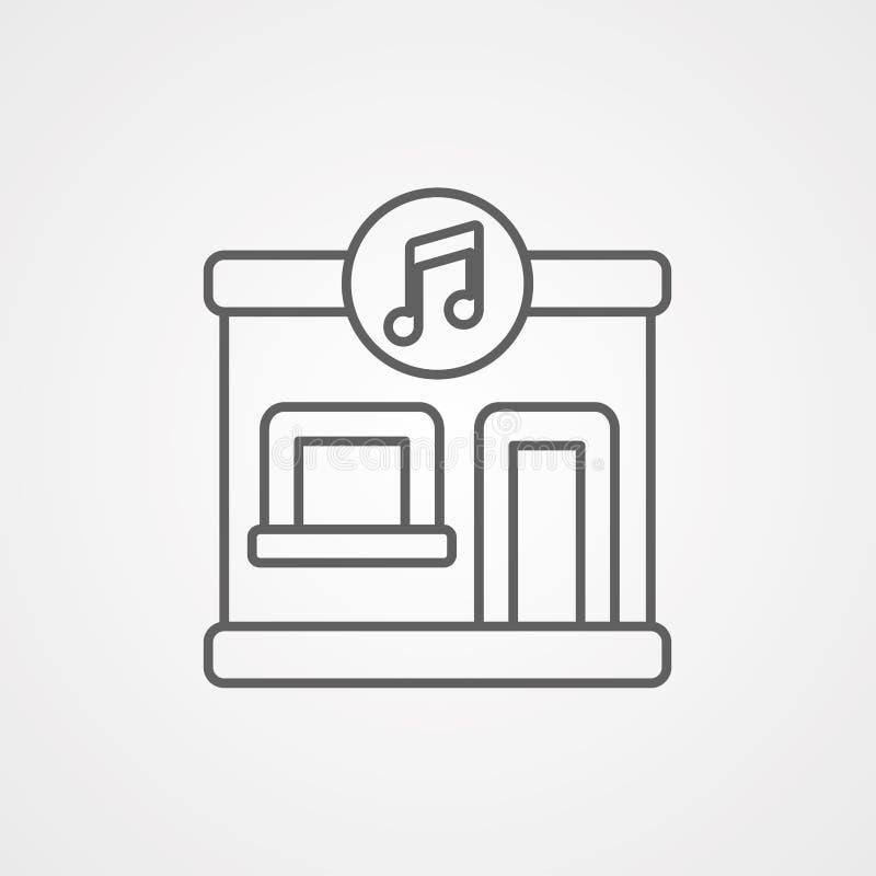 音乐商店传染媒介象标志标志 库存例证