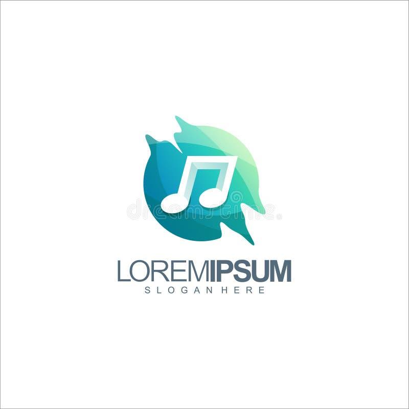音乐商标设计传染媒介例证 库存例证