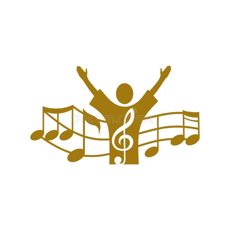 音乐商标 人唱歌 附注 皇族释放例证