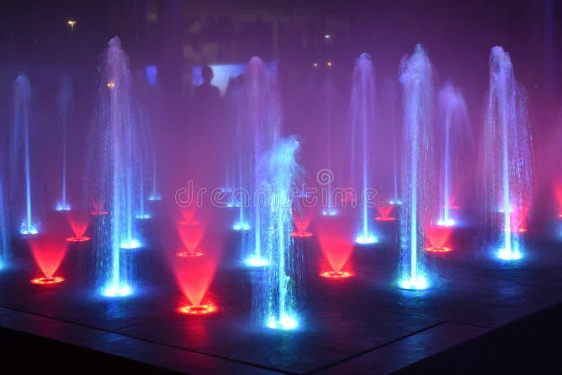 音乐喷泉,唱歌喷泉 图库摄影