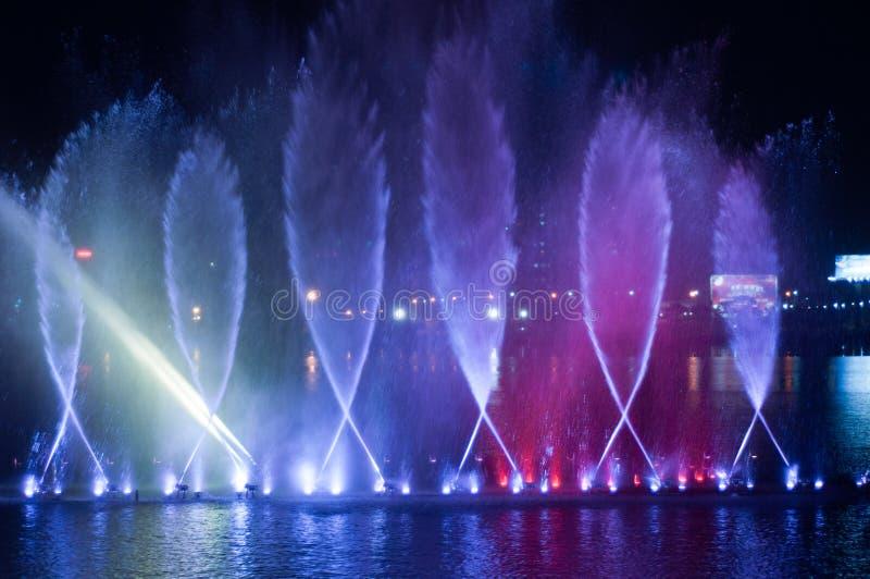 音乐喷泉 库存照片