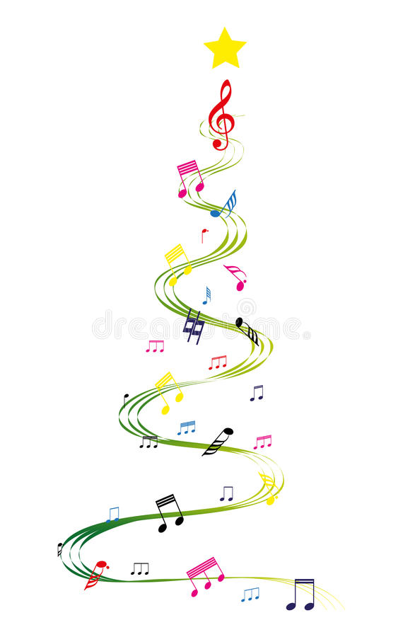 音乐圣诞树 皇族释放例证