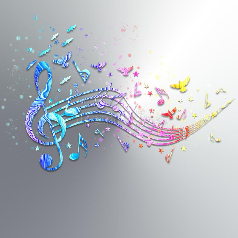 音乐在天空中 皇族释放例证