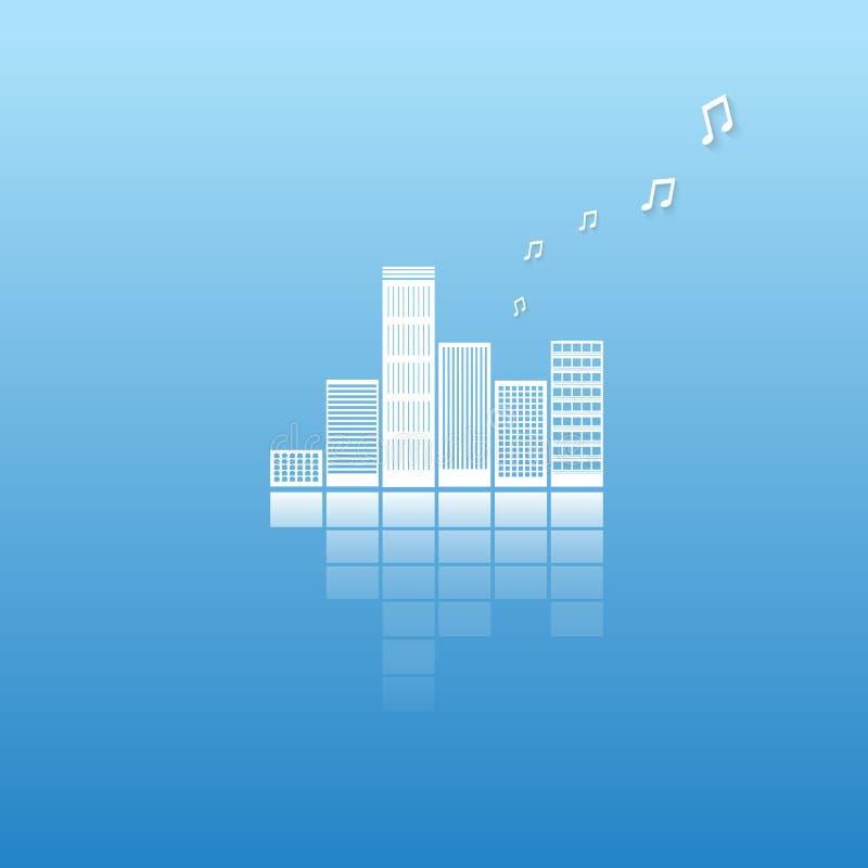 音乐城市概念传染媒介  向量例证