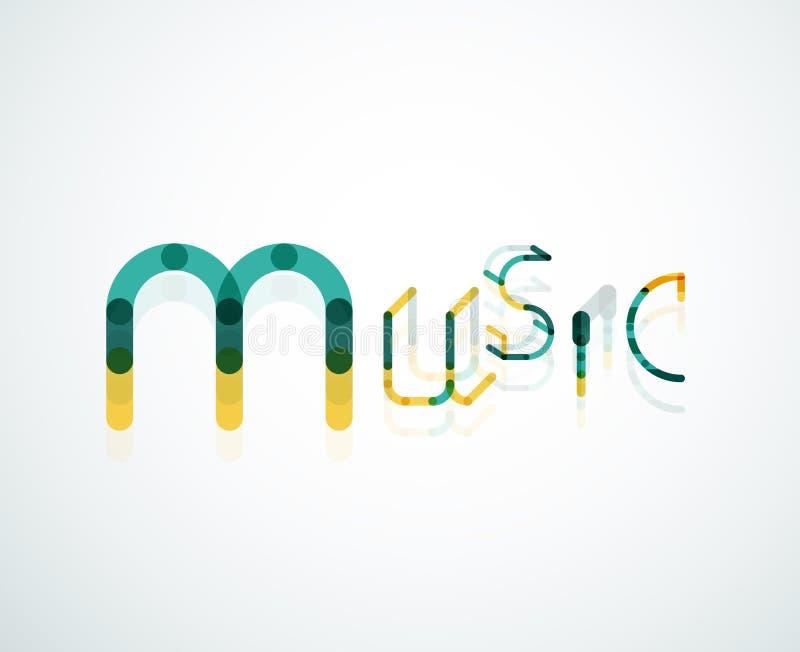 音乐字体词概念 向量例证