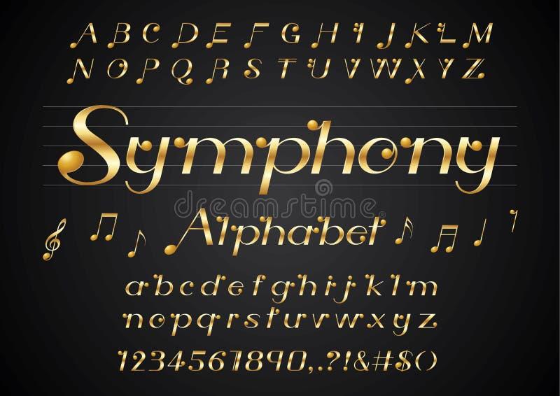 音乐字体 库存例证
