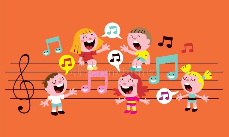 音乐孩子 库存例证