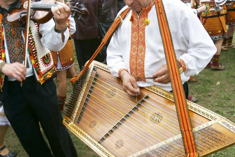 音乐家传统乌克兰语 库存照片
