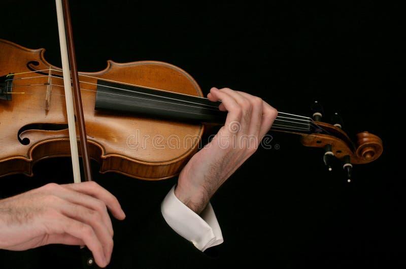 音乐家小提琴 免版税图库摄影