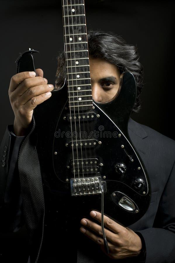 音乐家纵向 库存照片