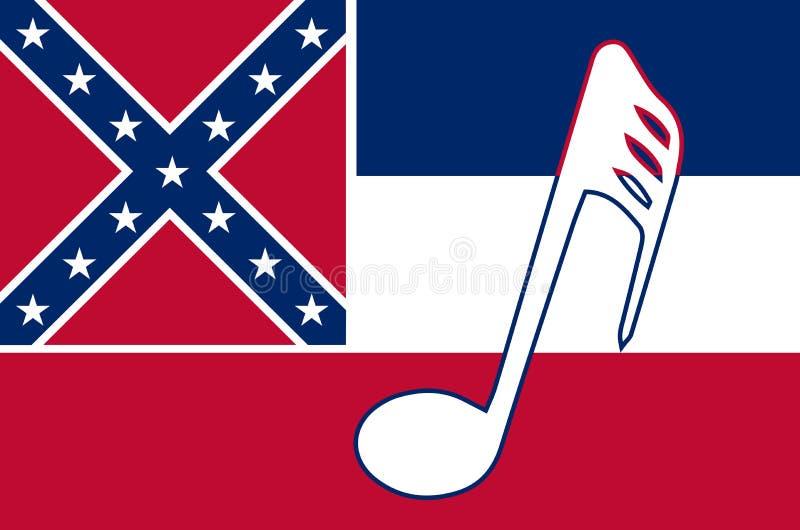 音乐密西西比状态旗子 向量例证