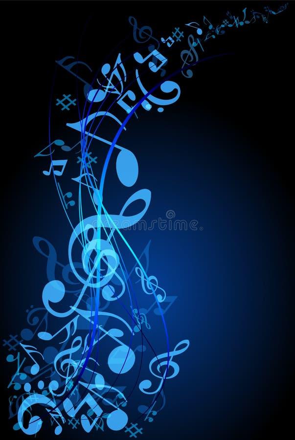 音乐小河 库存例证