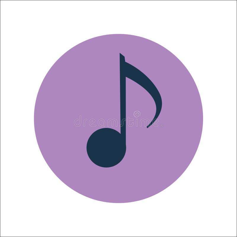 音乐平的象传染媒介 库存例证