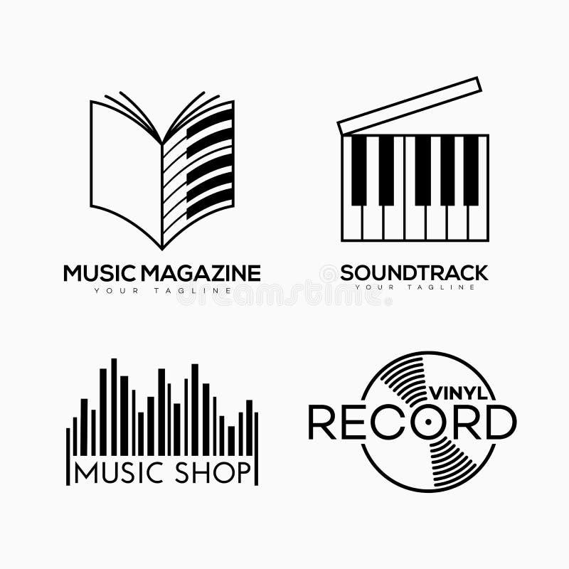 音乐徽标 向量例证