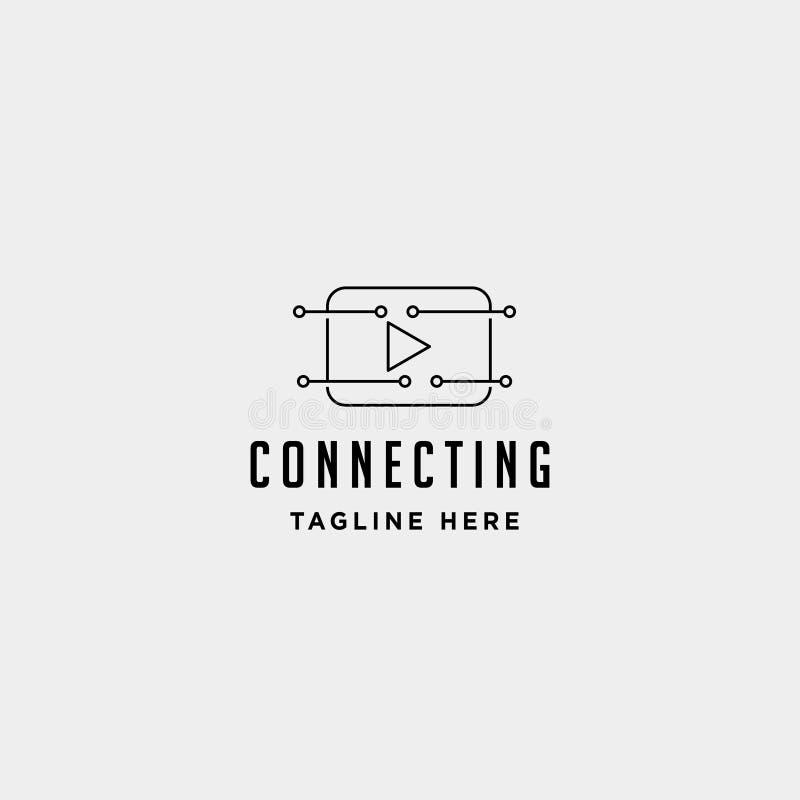 音乐戏剧互联网商标设计导航被隔绝的网上媒介标志 库存例证
