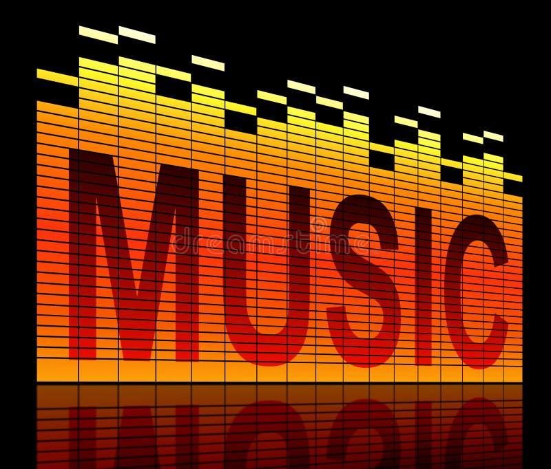 音乐成水平概念。 库存例证