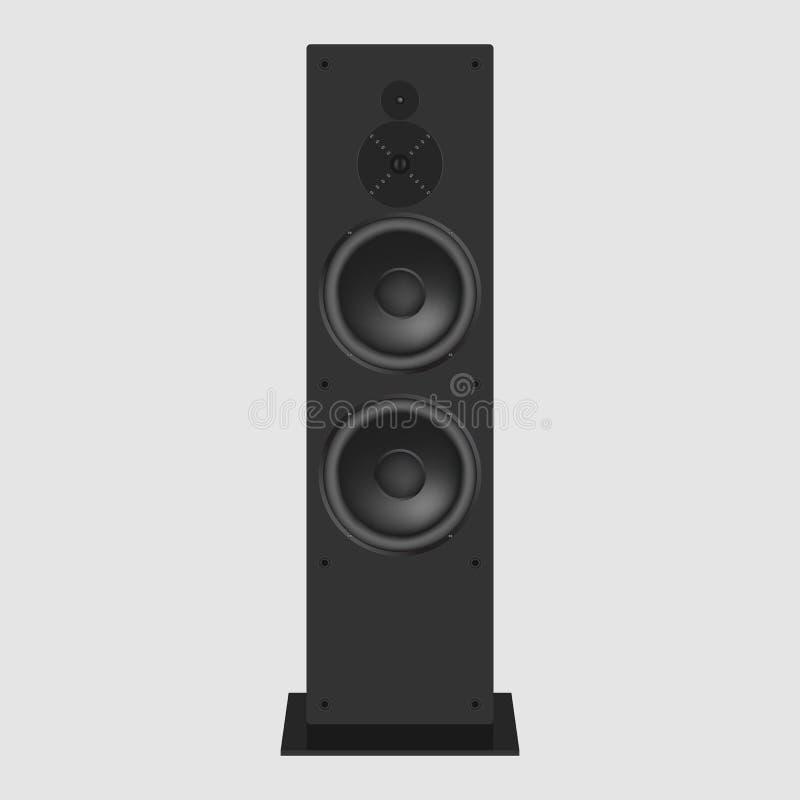 音乐报告人传染媒介例证 现代音响在白色ba 库存例证