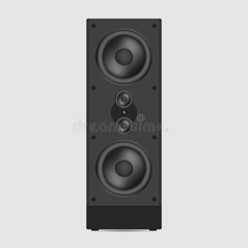 音乐报告人传染媒介例证 现代音响在白色ba 皇族释放例证