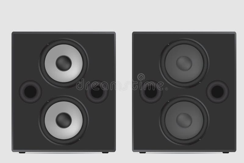 音乐报告人传染媒介例证 现代音响在白色ba 向量例证