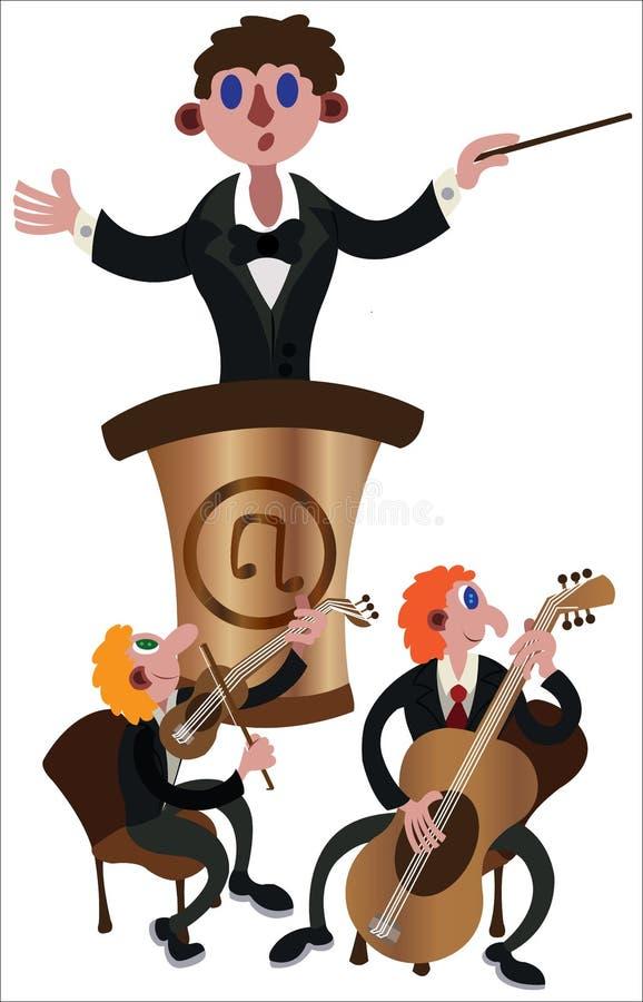 音乐指挥使用 库存例证