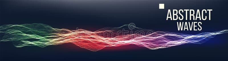 音乐挥动抽象合理的背景传染媒介 数据点爆炸  技术栅格 例证 皇族释放例证