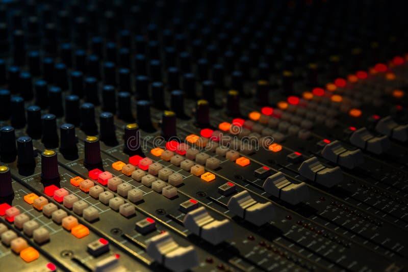音乐搅拌器特写镜头 库存图片