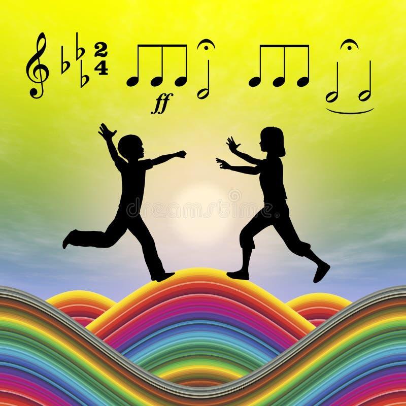 音乐教育 库存例证