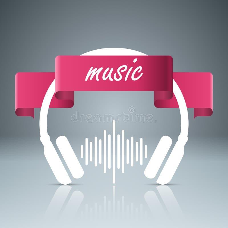 音乐教育Infographic 注意图标 向量例证