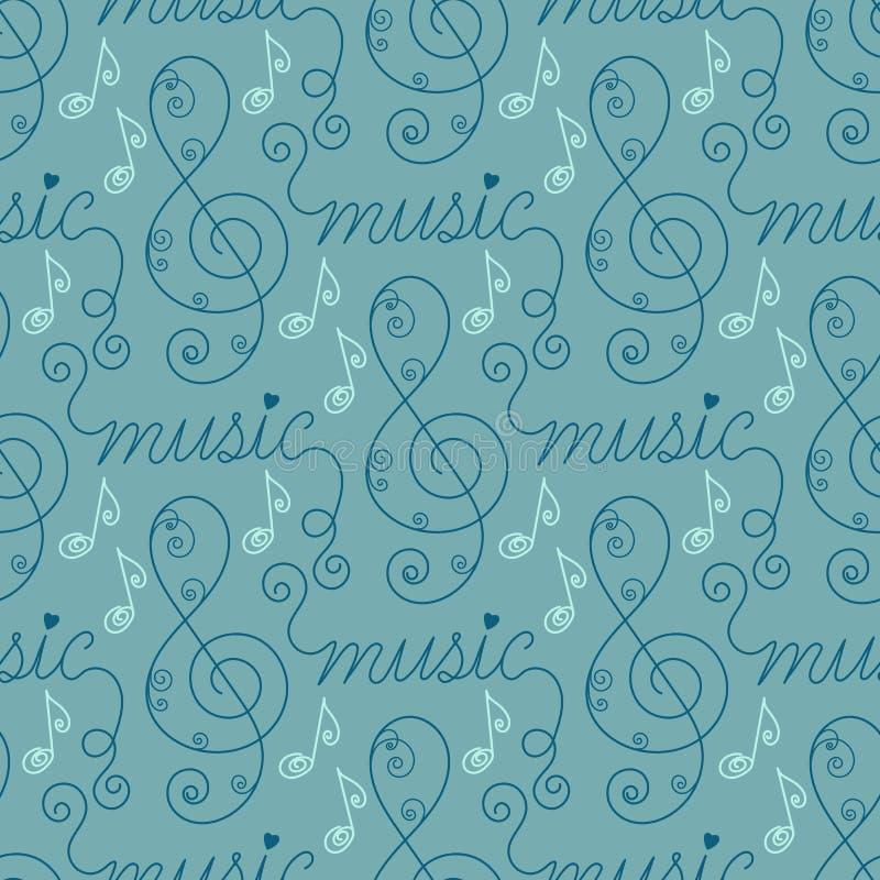 音乐无缝的模式 皇族释放例证