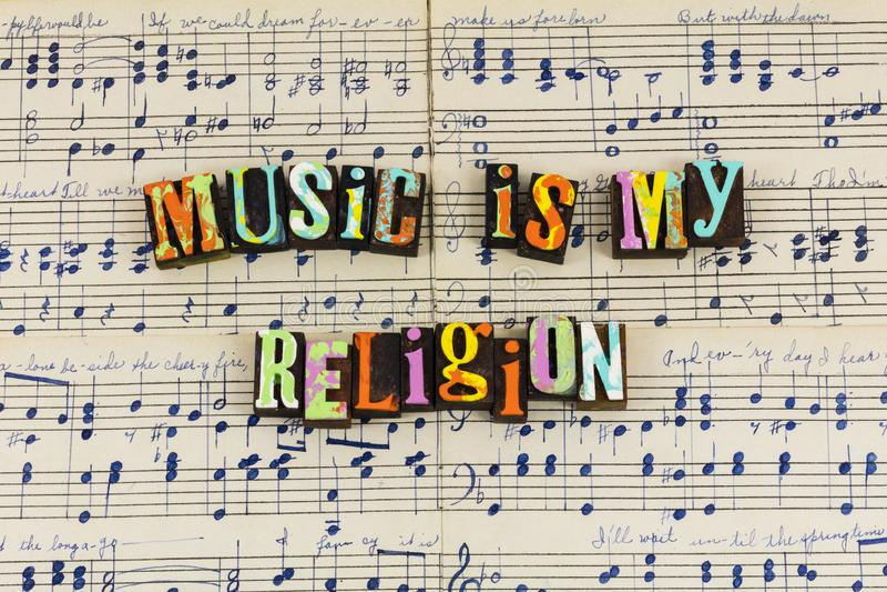 音乐是我的宗教享受 图库摄影