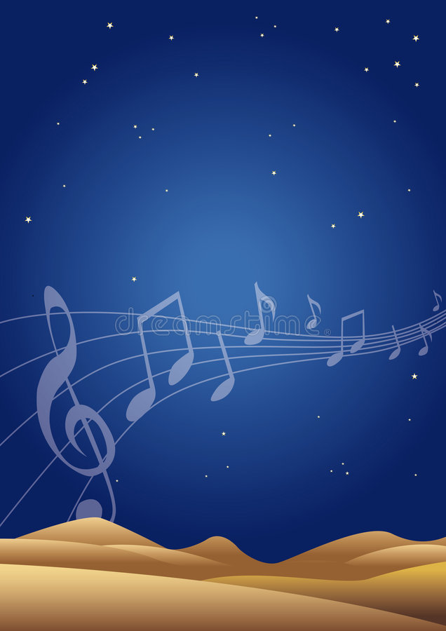 音乐晚上 皇族释放例证