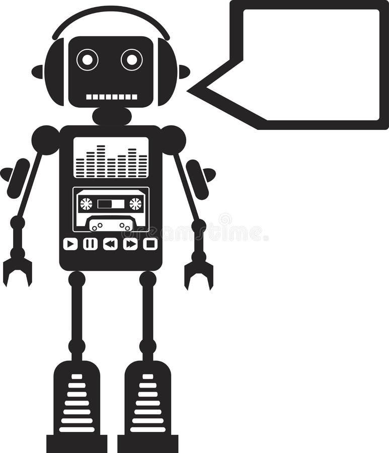 音乐机器人 向量例证