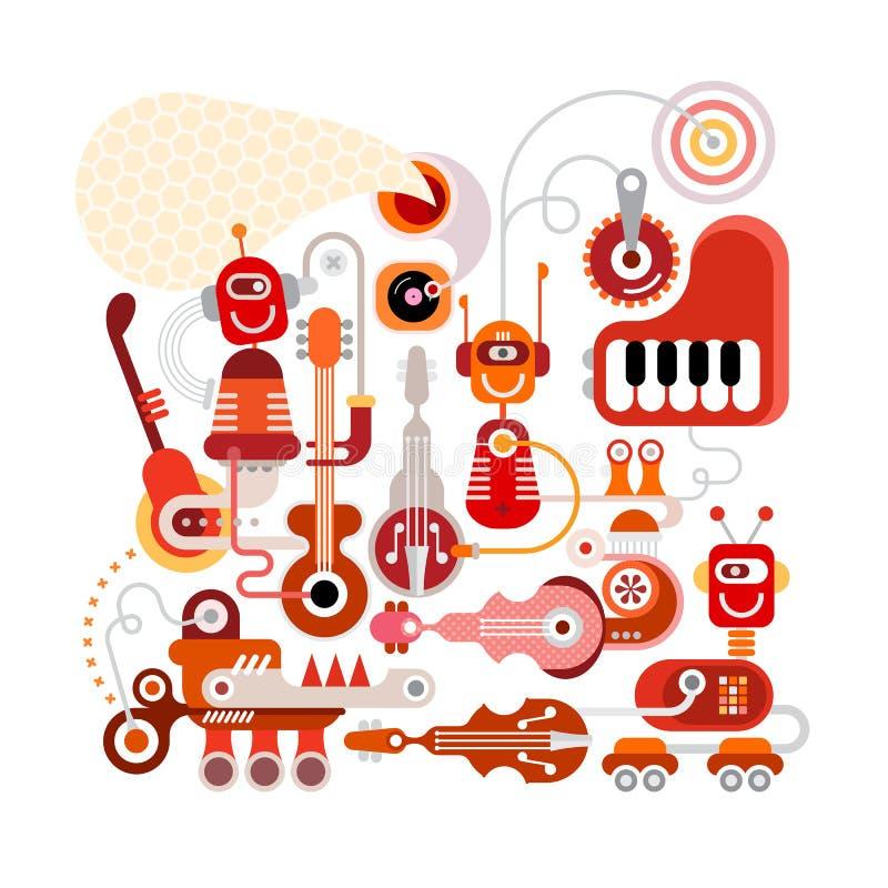 音乐机器人 皇族释放例证