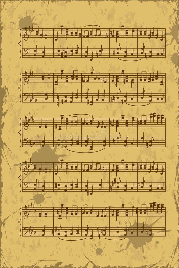 音乐梯级笔记板料  向量例证