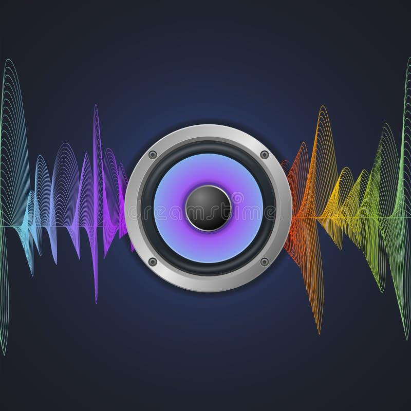 音乐概念 音频报告人和调平器 库存例证